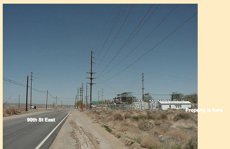 90th St East (105 feet east) on Ave E-2, two City size lots, Lancaster, CA 93535