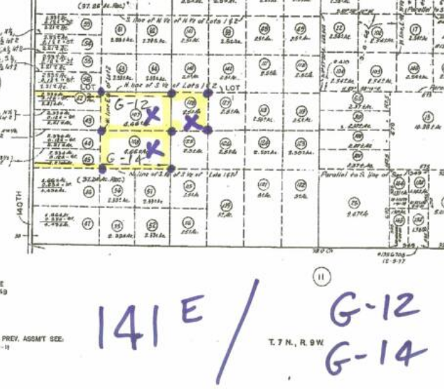 140th St East (660′ east of) on Ave G-14, 5 acre and 7.5 acre parcels, Lancaster, CA  93535