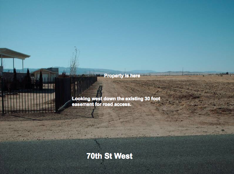 71st St West at Ave G-14, 1.25 acre lot, West Lancaster, CA 93536