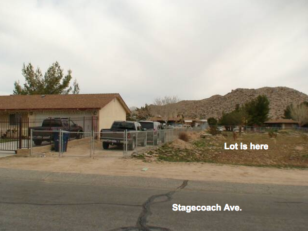 165th St East at Stagecoach, Half Acre lot, Lake Los Angeles, CA