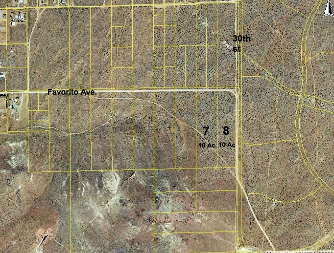 30th St West at Favorito Ave, SW corner, 10 acres, Rosamond area