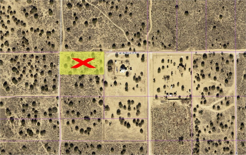 213th St West on Ave D-4, 1.25 Acre Lot one quarter mile south of paved Ave D (HWY 138) West Lancaster, CA 93536