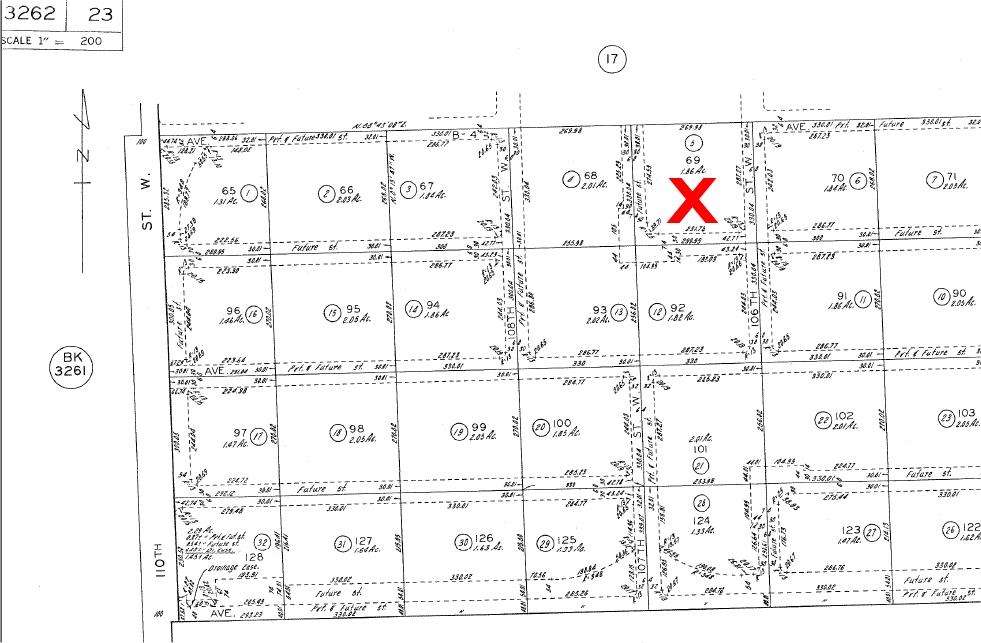 107th St West on Ave B-4, 2.5 Acre (gross) Lot, West Lancaster, CA 93536