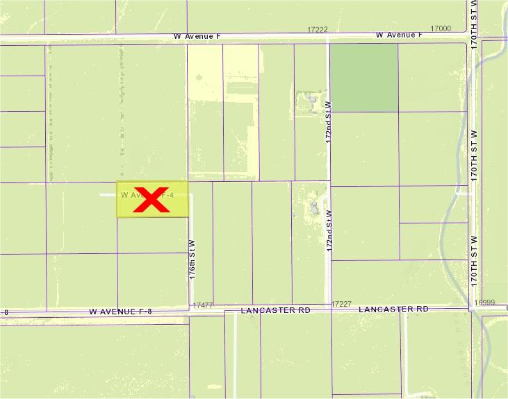 175th St West on Ave F-4, 5 acre parcel, West Lancaster, CA 93536