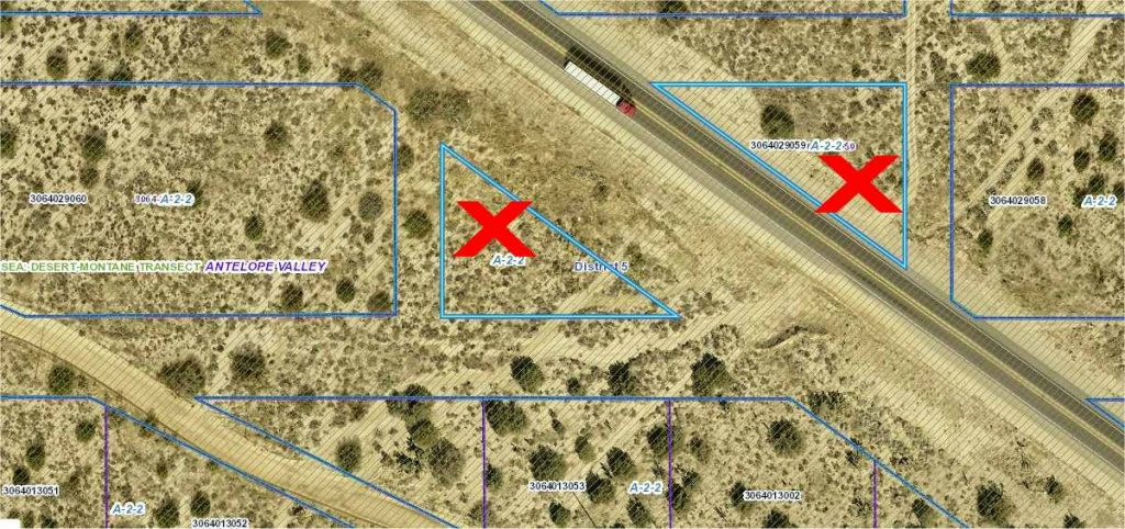 1.83 acres on  Hwy 138 at Ave Z,  Llano, CA  93544
