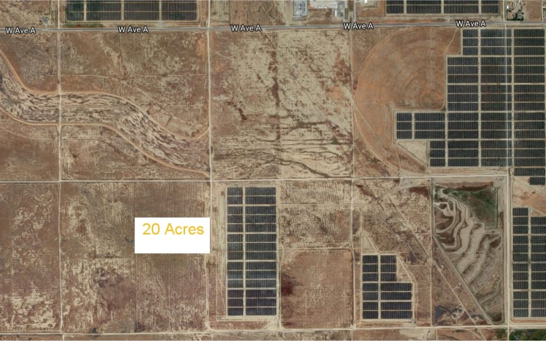 160th St West and Ave A-12, 20 acres – SOLAR PROPERTY-, West Lancaster, CA 93536