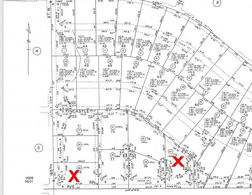 165th St West on Ave A-8, -Two lots available- 2.5 Acre (gross) Lots, West Lancaster, CA 93536