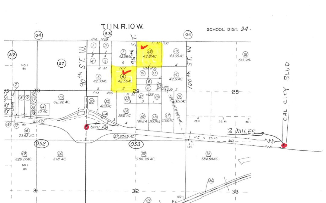 95th St West, Two 42 acre lots, one half mile north of the 58 frwy, Mojave, 2.5 miles west of California City Blvd.