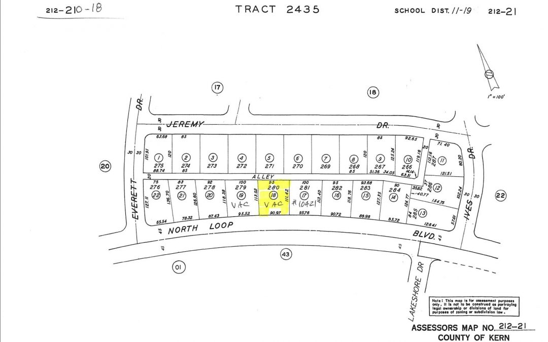 North Loop Blvd-City size lot on the West side of  house at 10421 North Loop Blvd, City of California City, CA 93505